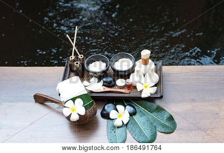 Spa scrub treatment and massage Thailand, select focus