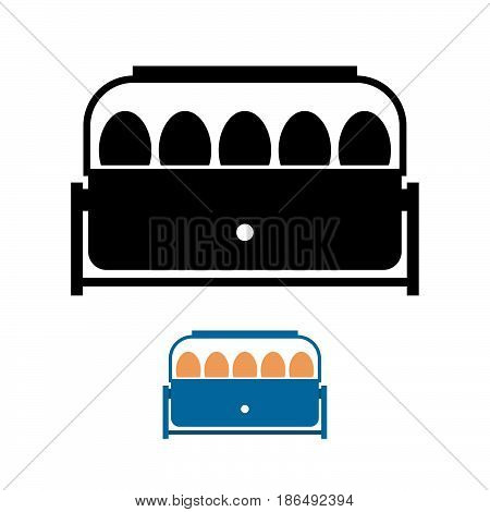 Small incubator ( shade picture ) on white
