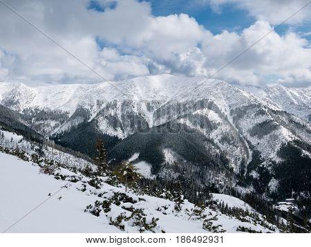 Landscape of Lower Tatra Mountains. Nizke Tatry in Slovakia.