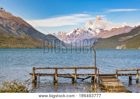 Lake And Andes Mountains, Patagonia - Argentina
