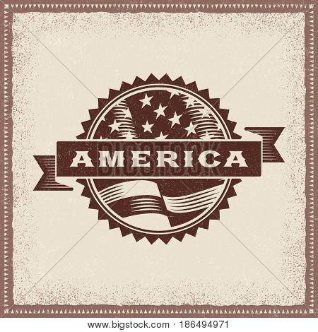 Vintage America Label
