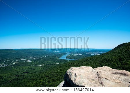 lookout mountain sunset rock landscape view from the sky