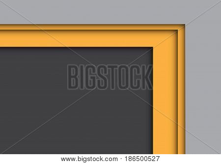 Abstract yellow arrow overlap on gray design modern background vector illustration.