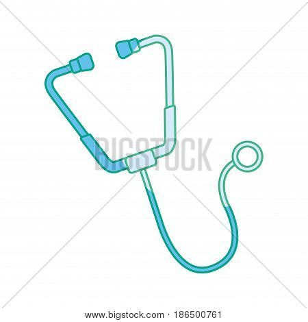 silhouette medical stethoscope tool revision heart, vector illustration