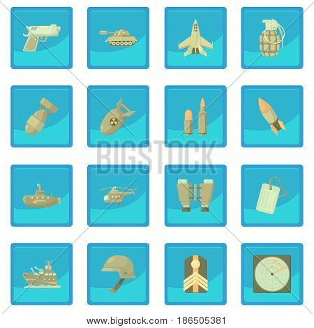 Military icon blue app for any design vector illustration