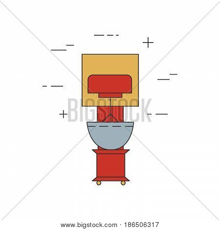 Mixer Isolated Line Icon. Kitchen Small Small Appliances.