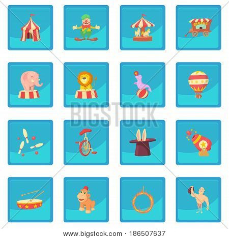 Circus icon blue app for any design vector illustration