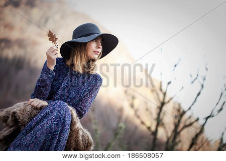Vintage Girl In Nature