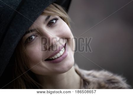 Pretty Girl With Hat