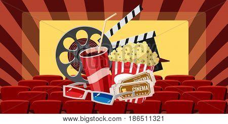 Cinema movie premiere icons set. Cartoon illustration of 16 cinema movie premiere vector icons for web