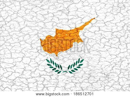 Cyprus Grunge Style National Flag