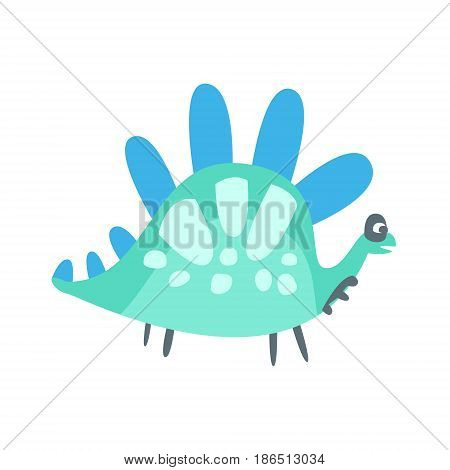 Colorful cute dinosaur. Prehistoric animal character vector Illustration isolated on a white background