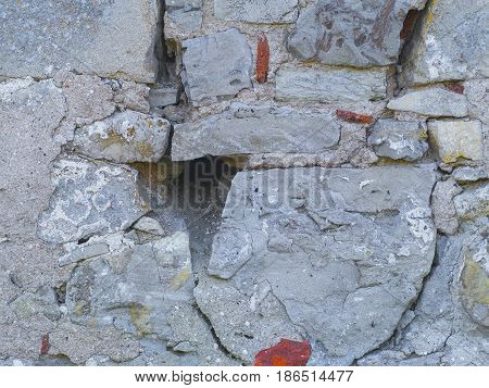 The texture of a medieval stone wall