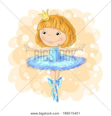 cute girl vector T-shirt print Book illustrations for children Romantic hand drawing poster cartoon character For apparel or other uses in vector pretty graphic Dancing child.