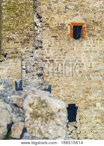 The destroyed tower of the old Genoese fortress