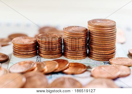 Saving money and account finance bankking business concept