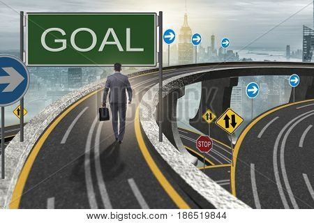 Business concept with goal metaphor