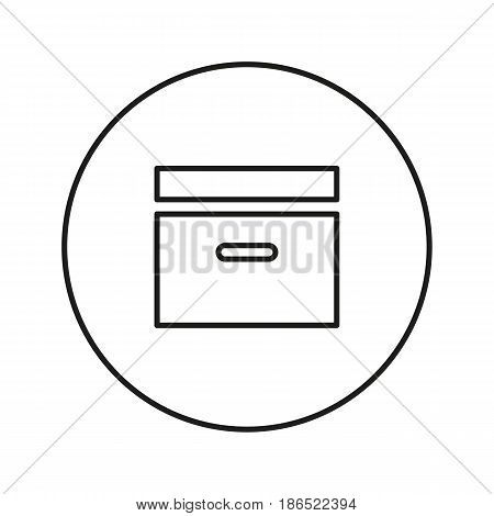 Organizer for files, documents. Icon for web and mobile application. Vector illustration isolated on a white background. Line