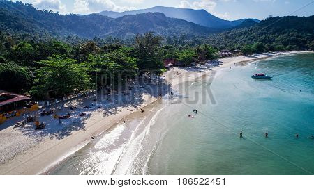 Aerial view of a beautiful sea landscape