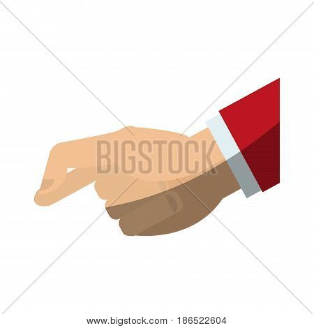hand holding gesture  icon image vector illustration design