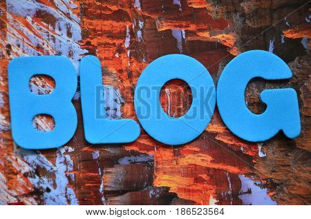 word blog on a  abstract colrful background
