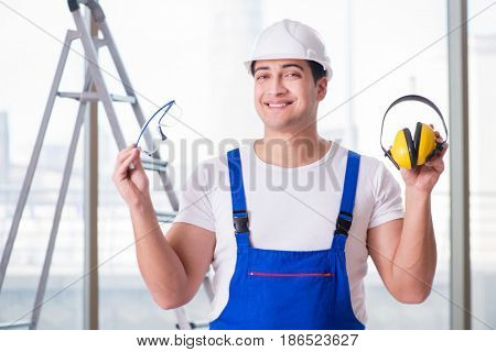 Young worker with noise cancelling headphones