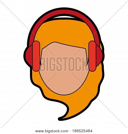 person with headphones icon image vector illustration design