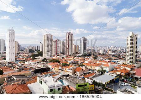 Aerial View of Tatuape in Sao Paulo, Brazil