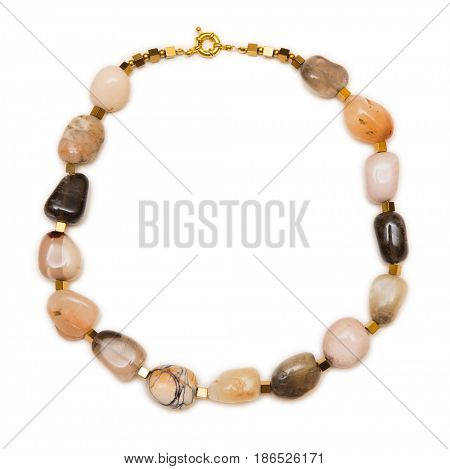Woman jewellery isolated on white background