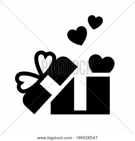 Box. Black icon isolated on white background