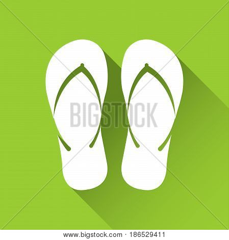 Simple flip flop icon travel and holiday symbol modern flat style icon vector illustration