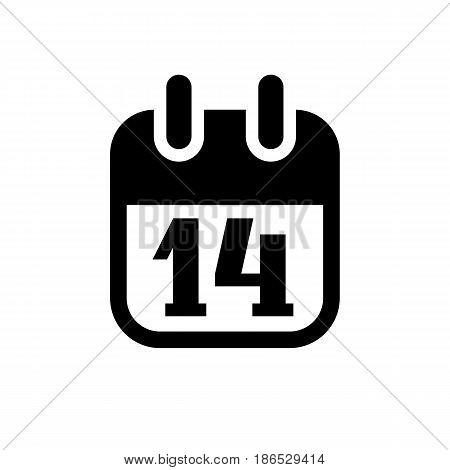 Calendar. Black icon isolated on white background