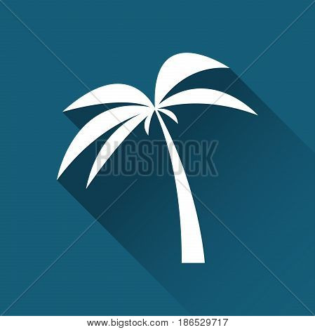 Simple palm tree icon travel and holiday symbol modern flat style icon vector illustration