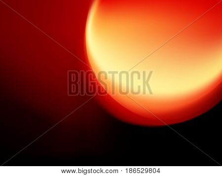 Black red background - abstract sunset with big sun light