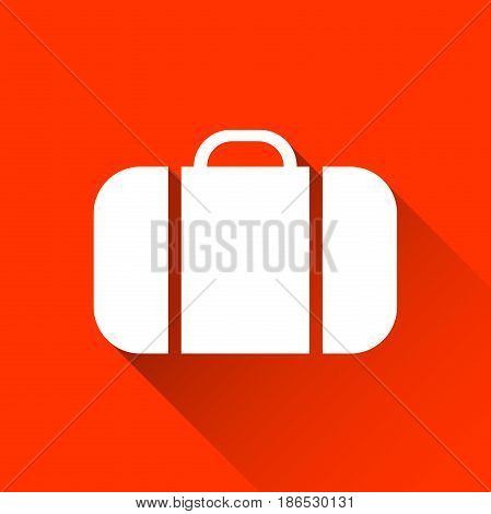 Simple suitcase icon travel and holiday symbol modern flat style icon vector illustration