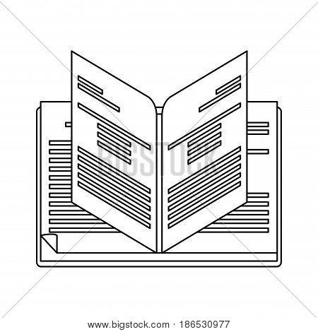 open book icon image vector illustration design  single black line