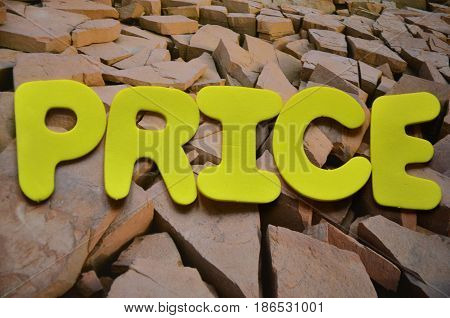 word price on a  abstract coloreful background