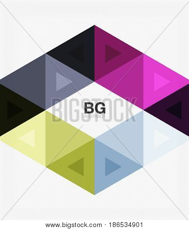 abstract colorful triangle repetition. template background for workflow layout, diagram, number options or web design
