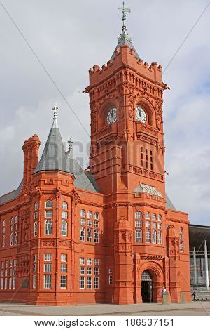 exterior of the pierhead building in Cardiff