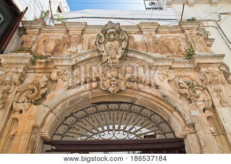 Morelli palace of Locorotondo. Puglia. Southern Italy.