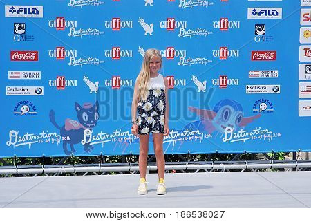 Giffoni Valle Piana Sa Italy - July 24 2016 : Cloe Romagnoli at Giffoni Film Festival 2016 - on July 24 2016 in Giffoni Valle Piana Italy