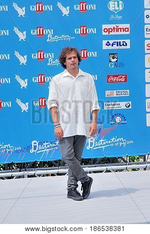 Giffoni Valle Piana Sa Italy - July 24 2016 : Brando Pacitto at Giffoni Film Festival 2016 - on July 24 2016 in Giffoni Valle Piana Italy