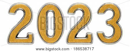 2023 Inscription, Isolated On White Background, 3D Render