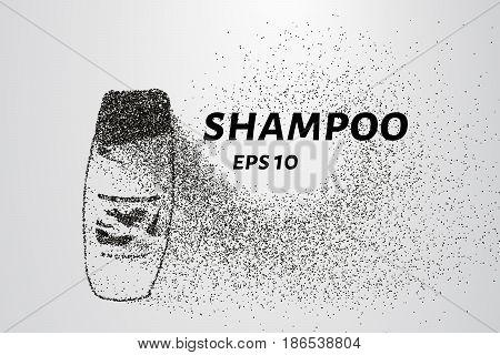 Shampoo Made Up Of Particles. The Shampoo Consists Of Small Circles And Dots. Vector Illustration.