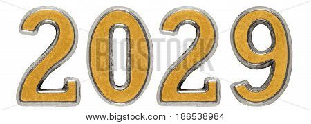 2029 Inscription, Isolated On White Background, 3D Render