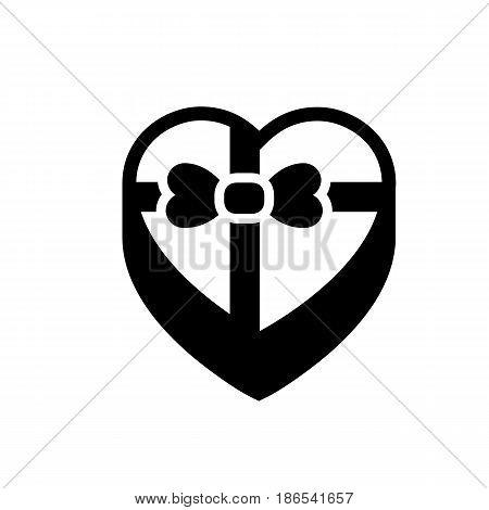 Sweet box. Black icon isolated on white background
