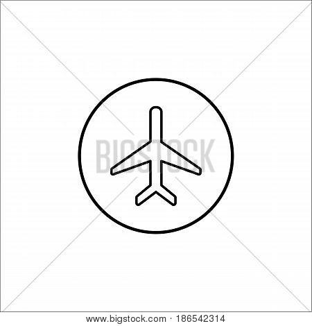 Airplane mode line icon, mobile sign and plane, vector graphics, a linear pattern on a white background, eps 10.