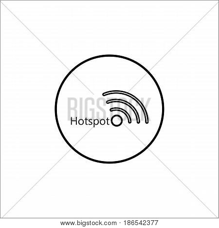 Hotspot line icon, mobile sign and wifi zone, vector graphics, a linear pattern on a white background, eps 10.