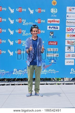 Giffoni Valle Piana Sa Italy - July 24 2016 : Mirko Trovato at Giffoni Film Festival 2016 - on July 24 2016 in Giffoni Valle Piana Ital