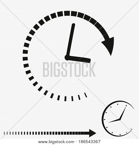 Passage of time icon. Vector set on white background.